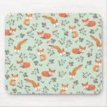Estampado de flores astuto mouse pads