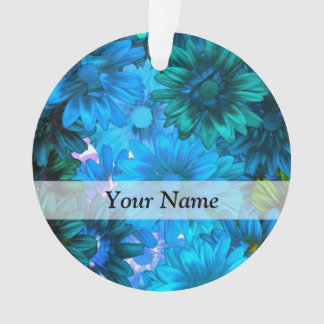Estampado de flores azul claro moderno