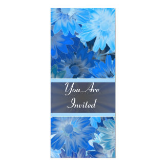 Estampado de flores azul cualquier ocasión