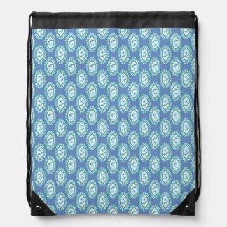 Estampado de flores azul elegante del bígaro del mochila