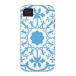 Estampado de flores azul iPhone 4/4S funda