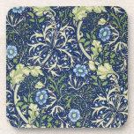 Estampado de flores azul posavasos