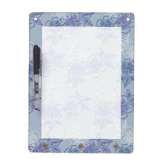 Estampado de flores azul púrpura blanco femenino e pizarras blancas de calidad