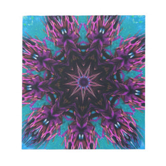 Estampado de flores azul púrpura de Kaleidescape Bloc De Notas