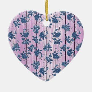 Estampado de flores azul rosado femenino del vinta adorno para reyes