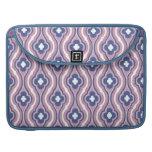 Estampado de flores azul rosado femenino funda para macbook pro