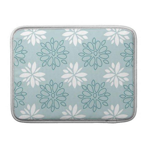 Estampado de flores azul y blanco funda para macbook air