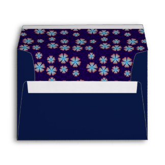Estampado de flores azulado sobres