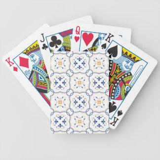 Estampado de flores barajas de cartas