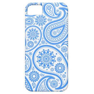 Estampado de flores blanco azul iPhone 5 Case-Mate carcasa