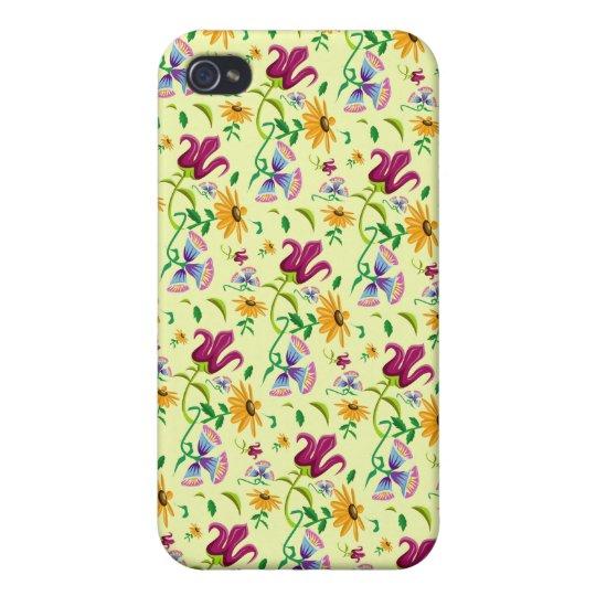 Estampado de flores bonito de las flores salvajes iPhone 4/4S funda