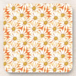 Estampado de flores bonito de las margaritas blanc posavaso
