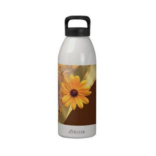 Estampado de flores bonito del otoño botella de agua reutilizable