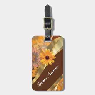 Estampado de flores bonito del otoño etiquetas bolsa