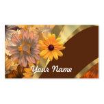 Estampado de flores bonito del otoño tarjeta de visita