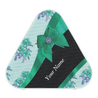 Estampado de flores bonito del vintage del verde altavoz bluetooth