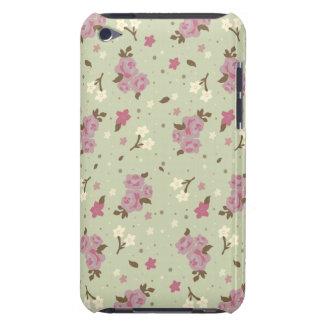Estampado de flores bonito elegante lamentable barely there iPod carcasa