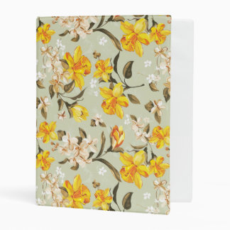 Estampado de flores brillante hermoso elegante mini carpeta