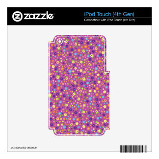 Estampado de flores calcomanía para iPod touch 4G
