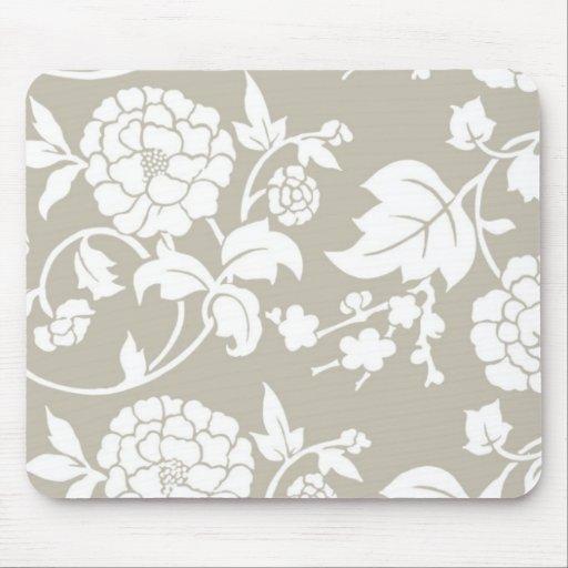 Estampado de flores chino elegante mouse pads