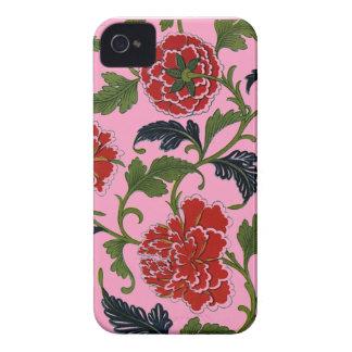 Estampado de flores chino imponente iPhone 4 Case-Mate protector