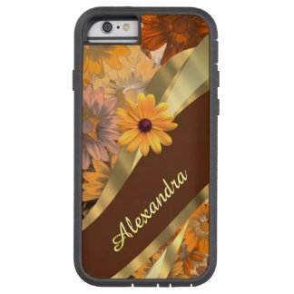 Estampado de flores coloreado caída bonita funda para  iPhone 6 tough xtreme