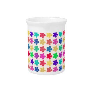 Estampado de flores coloreado multi del vintage jarra de beber