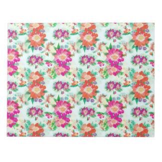 Estampado de flores colorido bloc de notas