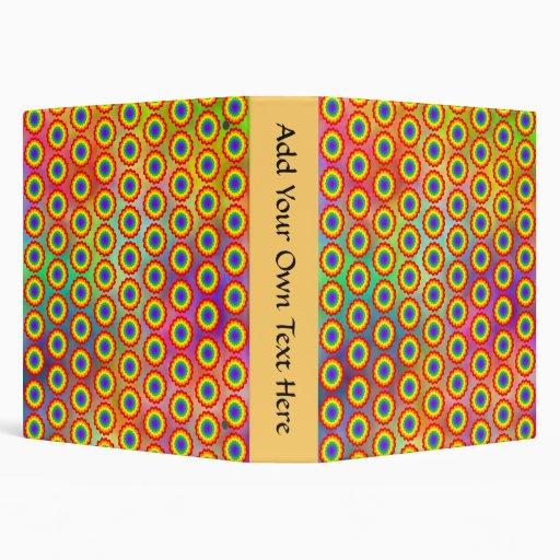"""Estampado de flores colorido. Colores del arco iri Carpeta 1 1/2"""""""