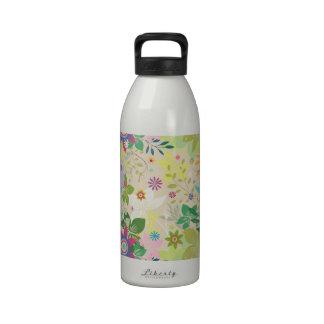 Estampado de flores colorido de la primavera botella de agua