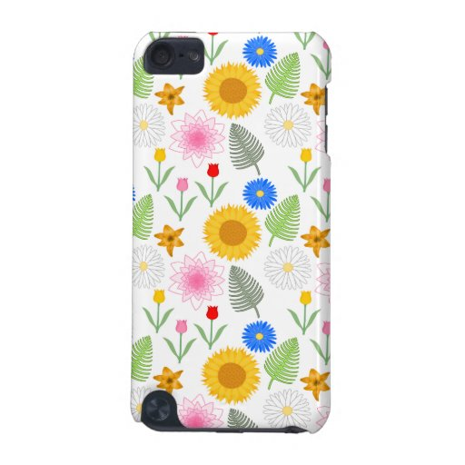 Estampado de flores colorido en blanco