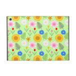 Estampado de flores colorido en verde de la menta iPad mini cárcasa