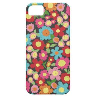 Estampado de flores colorido incompleto iPhone 5 fundas