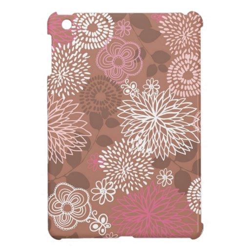 Estampado de flores de Brown iPad Mini Cárcasa