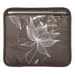 Estampado de flores de Brown oscuro Mangas De iPad