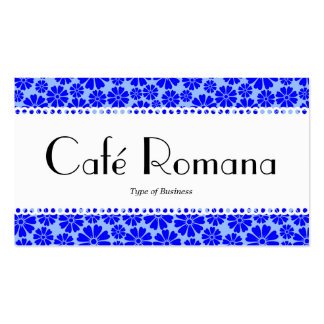 Estampado de flores de Café Romana (horneado a la Tarjetas De Visita