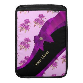 Estampado de flores de color de malva bonito del fundas para macbook air