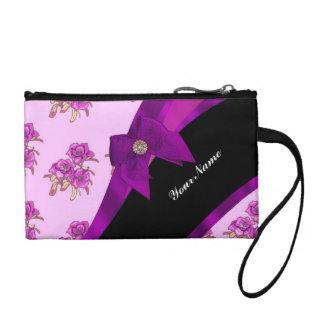 Estampado de flores de color de malva púrpura