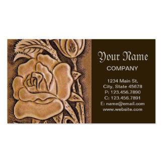 Estampado de flores de cuero equipado occidental tarjetas de visita