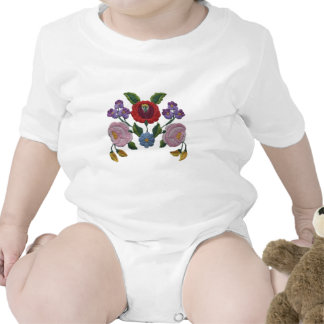 Estampado de flores de Kalocsai Camisetas