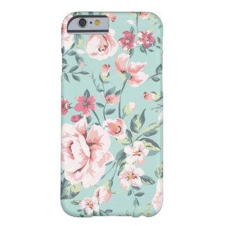 Estampado de flores de la cabaña funda de iPhone 6 barely there