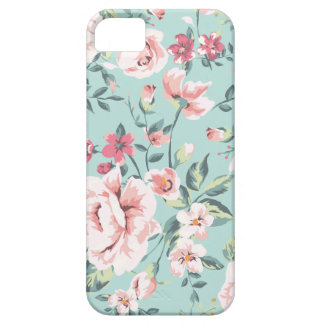 Estampado de flores de la cabaña funda para iPhone SE/5/5s