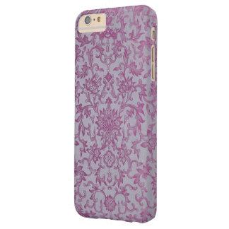 Estampado de flores de la púrpura del vintage funda de iPhone 6 plus barely there