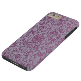 Estampado de flores de la púrpura del vintage funda de iPhone 6 plus tough