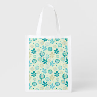 Estampado de flores de la sol del extracto de la bolsa de la compra
