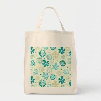 Estampado de flores de la sol del extracto de la bolsa tela para la compra