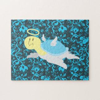 Estampado de flores de la tortuga del ángel rompecabezas con fotos