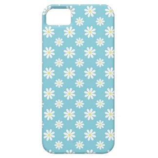 Estampado de flores de las margaritas de azules ci iPhone 5 cárcasas