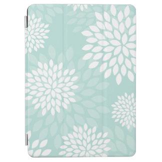 Estampado de flores de los crisantemos de la verde cover de iPad air