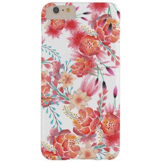 Estampado de flores de moda de la acuarela funda para iPhone 6 plus barely there
